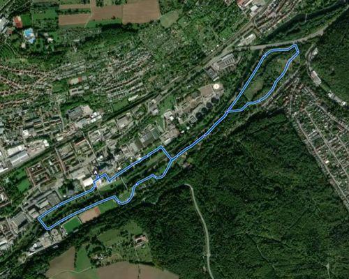 Original-Laufstrecke auf komoot